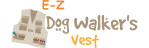 EZ Dog Walker's Vest small logo.
