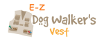 The EZ Dog Walker's Vest for dog walkers, dog trainers and dog enthusiasts to wear and carry all dog and personal items in the multi-pocketed vest.